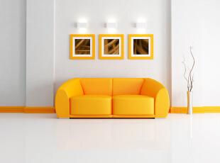 活泼糖果色沙发