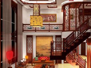 中式古典婚房 3D效果图