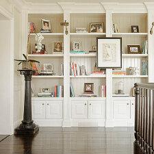 为现代家巧设计书架墙