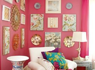 粉色 创意墙