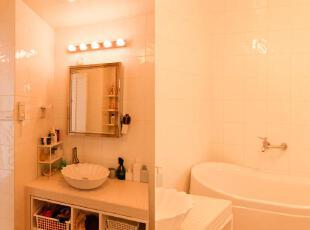 洗手间和浴室,看上去很美好。,60平,3万,小户型,欧式,简约,宜家,黄色,卫生间,