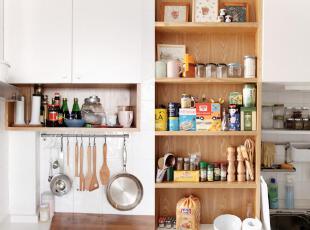 洁癖的人不会容忍厨房一片狼藉,看我的收纳意识。,60平,3万,小户型,欧式,原木,简约,宜家,收纳,厨房,白色,