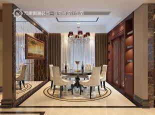 ,现代,餐厅,餐台,灯具,墙面,深咖色,奢华,
