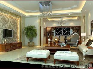 ,300平,30万,别墅,现代,客厅,