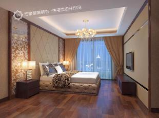 ,卧室,窗帘,墙面,灯具,现代,简约,米黄色,原木色,