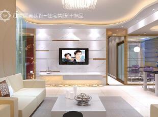 ,白色,黄色,客厅,现代,简约,电视墙,