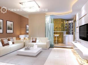,白色,墙面,黄色,现代,简约,客厅,
