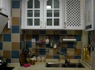 ,68平,5万,地中海,两居,白色,厨房,