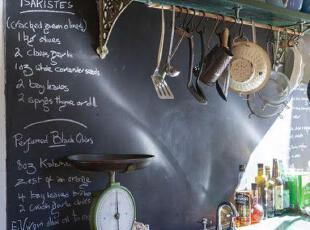 厨房创意黑板报