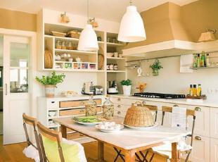 黄+白暖色搭配 打造温馨田园公寓