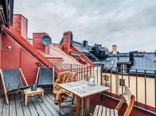 紧凑布局杂而不乱 北欧风165平阁楼公寓