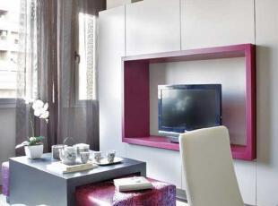粉紫调调的45平米时尚公寓装修