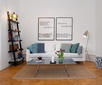 43平米瑞典公寓 空间小...