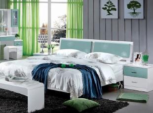 夏日绿色清新卧室