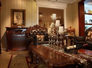 欧式实木豪华客厅