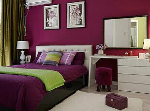 紫绿色混搭婚房 浪漫进行到底