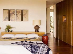 恬静淡雅日式和风卧室...