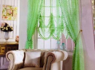 绿色碎花纱客厅 宜家