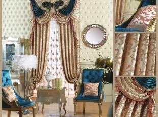 进口高精密提花布  客厅 欧式  窗帘 简约