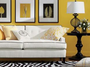 黄色简约客厅 温暖小资