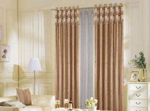 《尚品居家纺》高档坚条纹雪尼尔提花布  客厅 卧室 简约 窗帘