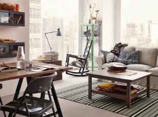 线条简单明朗的宜家客厅