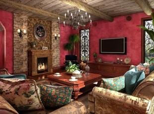 欧式复古潮流客厅