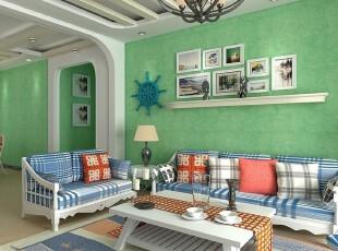 清新地中海风格的卧室