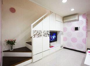 80后粉妆33平loft式公寓