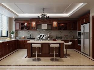欧式新古典原木橱柜厨房
