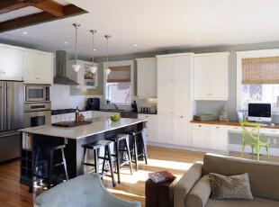 开放式现代中岛厨房设计