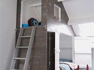 房中房创意双胞胎卧室...