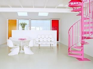 粉色室内楼梯创意设计