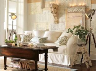 新古典美式乡村客厅