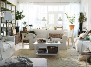 宜家风格白色清新简约客厅