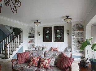 地中海风客厅版图添温馨 美式乡村家具效果佳