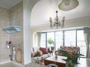 掏空隔断墙 客厅厨房两面通透光线足