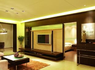 中式电视背景墙暗门设计