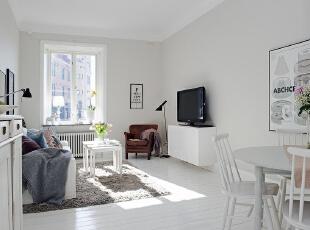 白色简约小户型客厅 素净窝心