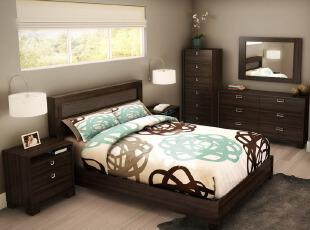 美式单身男卧室设计搭...