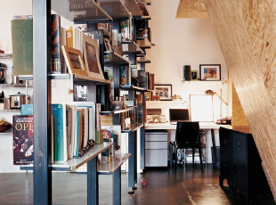 阁楼改造的开放式书房