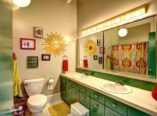 浴室 也需要活泼色彩