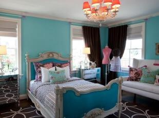 地中海风格卧室颜色错...