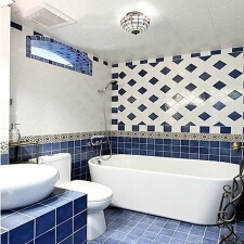 卫生间的地中海风瓷砖搭配