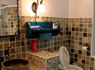 艺术气息的地中海仿古卫生间瓷砖