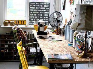 亮色装饰的soho工作间
