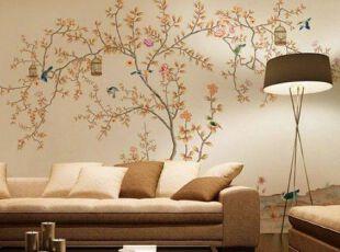 生动的彩色墙体彩绘效果图