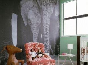 儿童房墙体彩色装饰设计