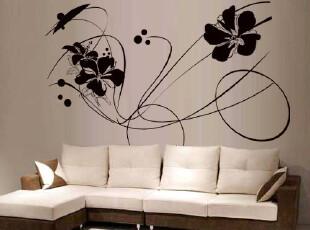 简约风格墙体彩绘效果图