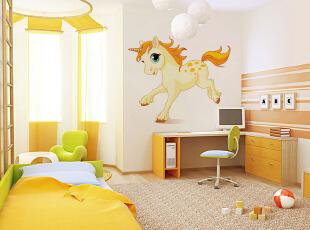 儿童房的墙面彩绘图